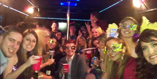 New Year limo celebration