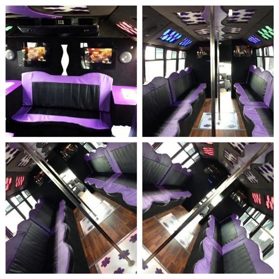 Party Bus With Dance Floor: Limousine Fleet Dallas Fort Worth TX-Luxury Vehicle